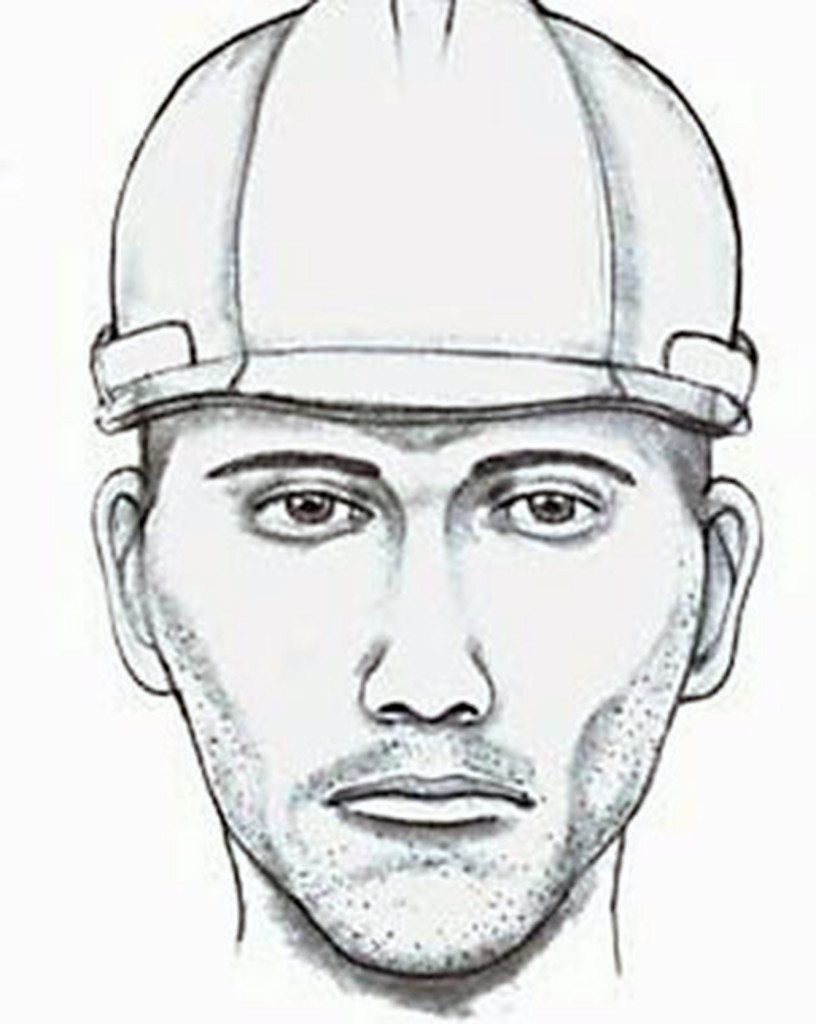A Nassau County Police sketch of the suspect connected to the Herricks burglary