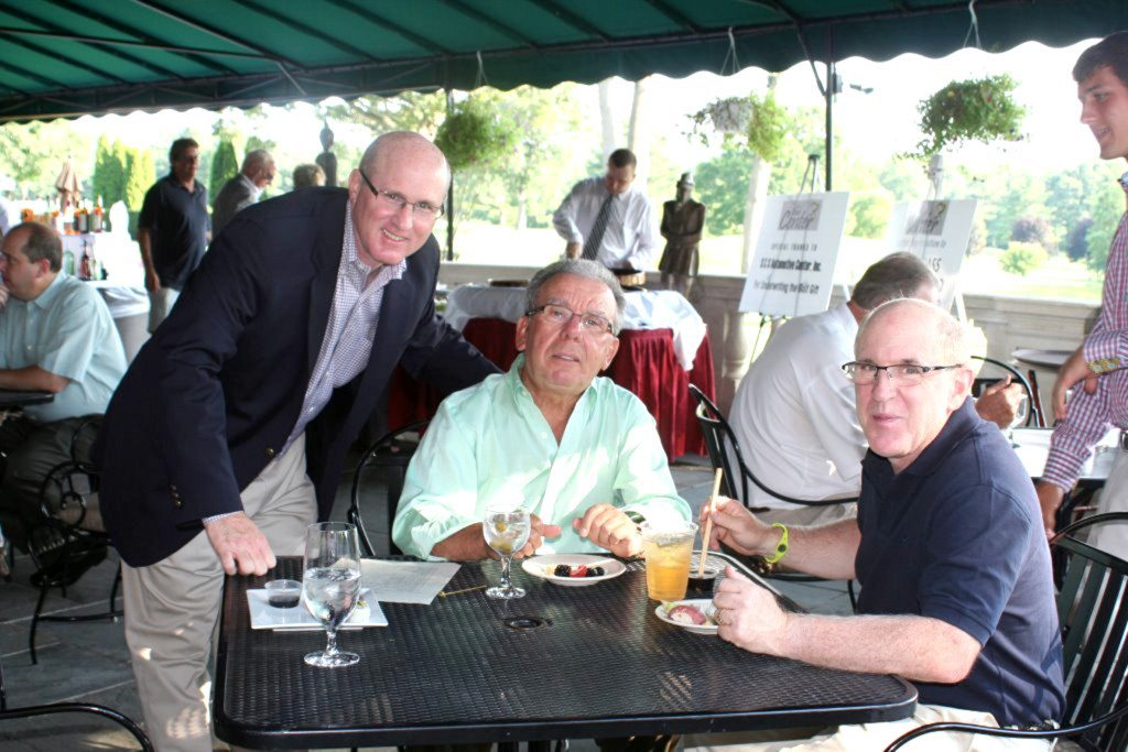 Pictured from left to right:  Joe Graci, board treasurer;  Anthony Caporrino, managing partner at Grodsky, Caporrino & Kaufman, LLP; and Anthony Graci, partner at the same firm. They are long-time supporters of The Center.
