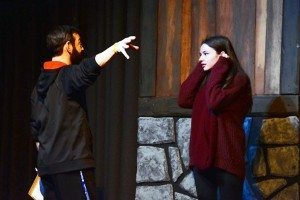 Gene Connor directs Fantine, played by Sandy Durst.  (Photo by Samantha Cocchi)