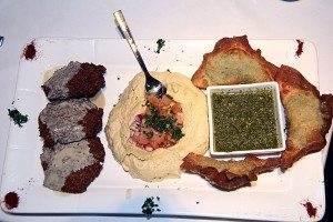 A trio of appetizers