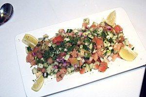 One of Sufiya's bright salads
