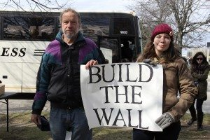 Jim MacDonald and his daughter Sarah want to Trump build a wall. (Photos by Steve Mosco)