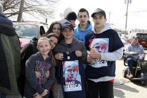 A Seaford family shows support for their candidate of choice.
