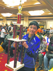 Wesley Wang was named National Junior High co-champ.