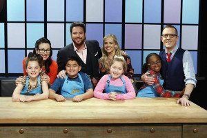 The Woodbury youngster got a chance to hang out with the network's judges.