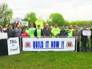 Residents rallied en mass to support the erection of a stadium for the New York Cosmos at Belmont Park.