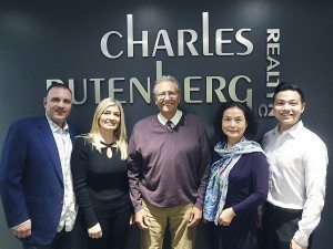 From left: Charles Rutenberg Realty's Carmine Avellino Jr., Riva Nahmiyas, Joe Moshe, Ann Lee and Kevin Leung  (Photo by Chris Boyle)