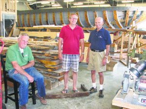 From left: Project manager Ed Peterson, port captain Billy Shephard and his dad William Shephard, a volunteer