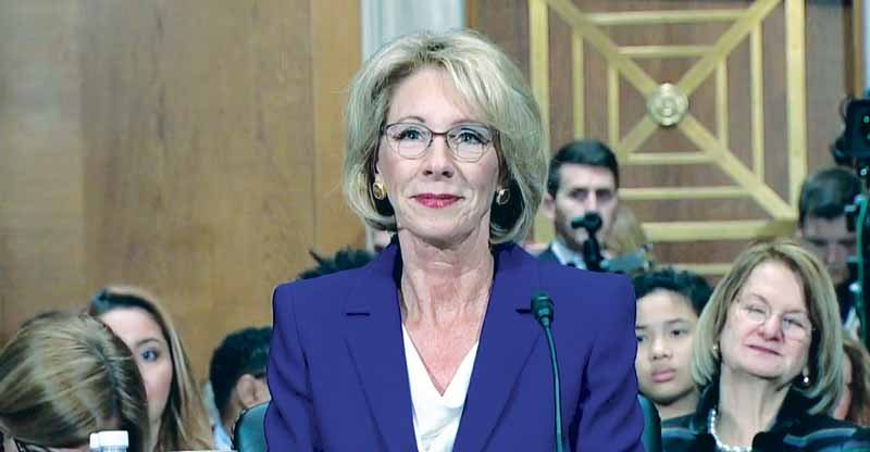 Betsy DeVos, President Trump's controversial nomination for Secretary of Education